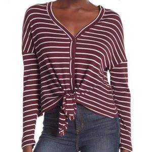 NWT Good Luck Gem Tie Front Blouse